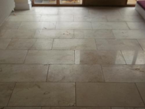 Marble Hallway Before Polishing
