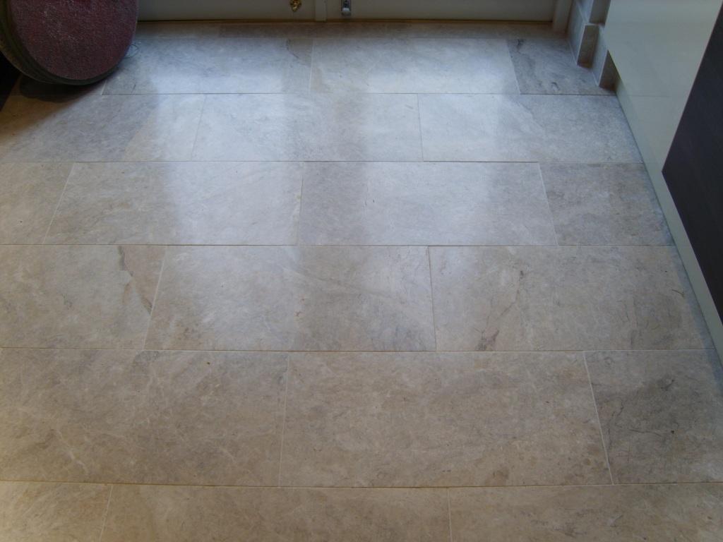 Marble Floor Before Polishing