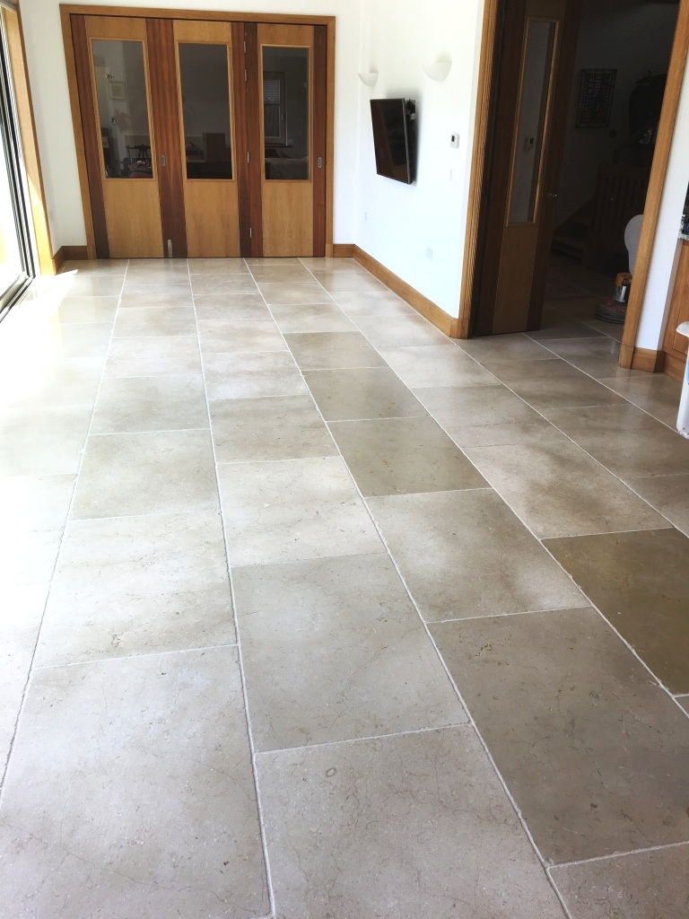 Renovating White Tumbled Marble Tiles Marble Tile Cleaning And Polishing
