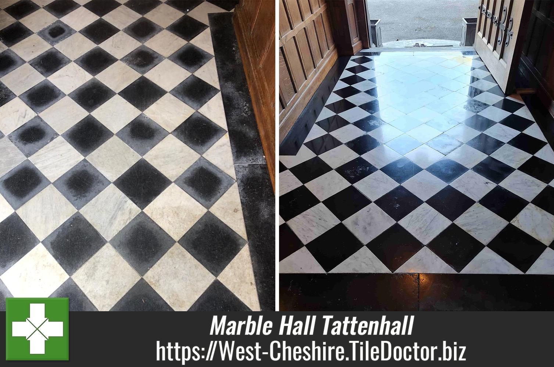 Marble-Tiled-Hallway-Floor-Renovation-Grade-II-Listed-Building-Tattenhall